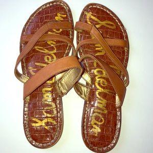 Sam Edelman Strappy Flip Flop Slip On Sandals